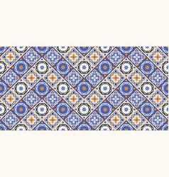 Mediterranean seamless patchwork pattern from vector