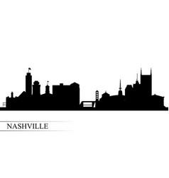 Nashville city skyline silhouette background vector