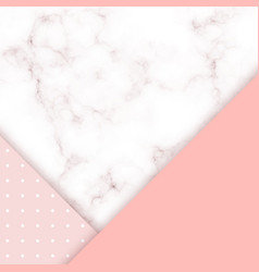 pink marble card design abstract background with vector image