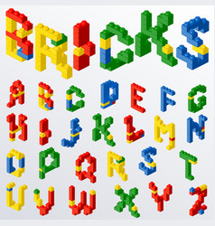 plastic block toys letters vector image