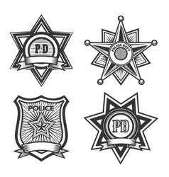 Police Badge Set vector image