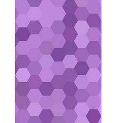 Purple abstract hexagonal honey comb background vector image