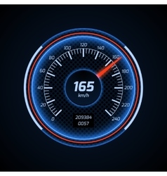 Realistic car speedometer interface vector image