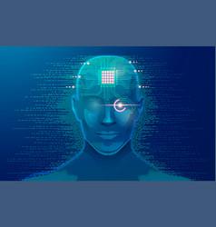 robotface vector image
