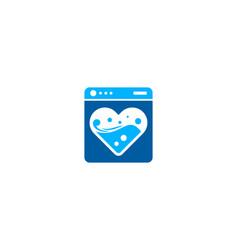 Romance laundry logo icon design vector