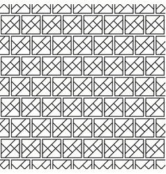 seamless geometric black and white squares pattern vector image