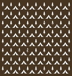 Seamless pattern camping in the woods with the vector image