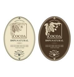 Set cocoa labels vector