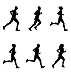 set people running vector image