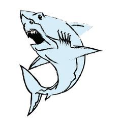 Shark mascot angry aggresive predator symbol vector