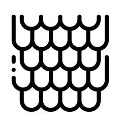 Shingles roicon outline vector