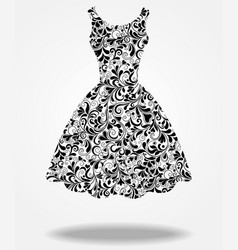 Silhouette of isolated back dress vector