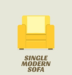 Single Modern Sofa Flat Design vector image