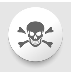 Skull and crossbones - a mark of the danger vector image