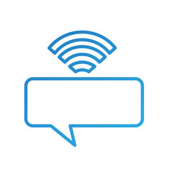 speak bubble with wifi signal communication media vector image