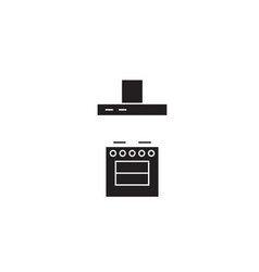 stove with a vent black concept icon stove vector image