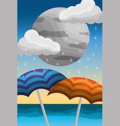 Summer and rain season vector