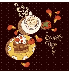 Sweet time vector
