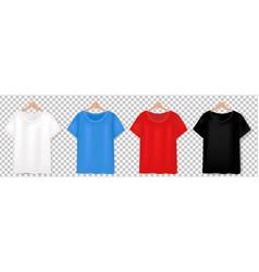 T-short design template set transparent backgro vector
