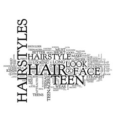 Teen hair styles text background word cloud vector