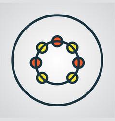 Timbrel colorful outline symbol premium quality vector