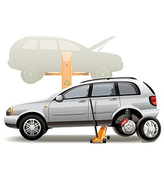 Tire repairs vector image vector image