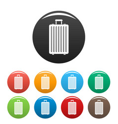 travel new bag icons set color vector image
