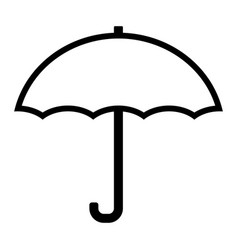 umbrella line icon simple 96x96 pictogram vector image