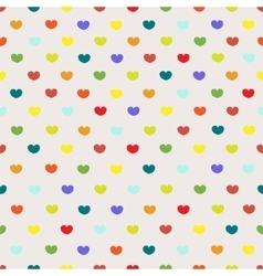Vintage colored heart seamless pattern vector