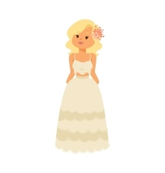 Wedding bride girl character vector image
