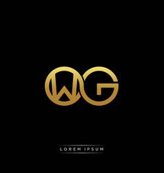 wg initial letter linked circle capital monogram vector image