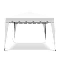 white pop up gazebo canopy folding tent vector image