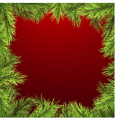 Winter holiday background with firtree frame vector