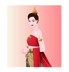 Woman Thai style vector image