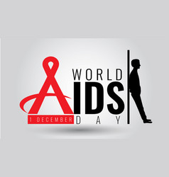 World aids day - sign symbol 1 december vector