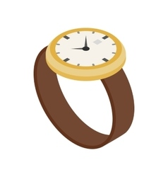 Wrist watch icon isometric 3d style vector