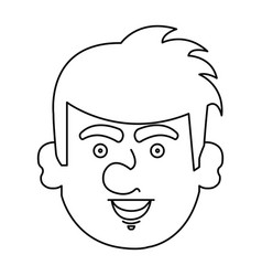 Young irish man character vector