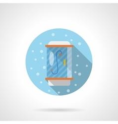 Bathroom shower round flat color icon vector image vector image