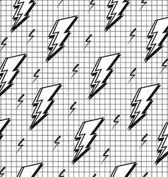 Black and white retro seamless pattern with bolt vector image vector image
