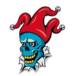 cartoon clown skull vector image vector image