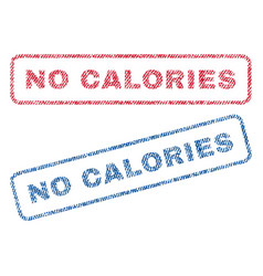 No calories textile stamps vector