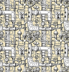 seamless pattern Steampunk vector image vector image