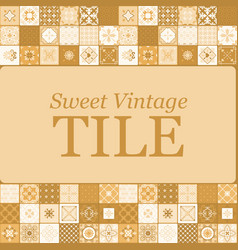 sweet vintage ceramic brown tiles vector image vector image