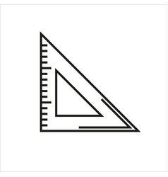 triangle ruler icon on white background vector image vector image