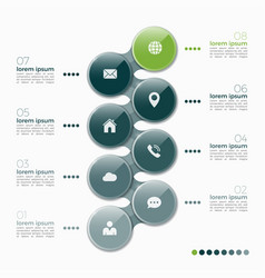 8 option infographic design with ellipses vector image vector image