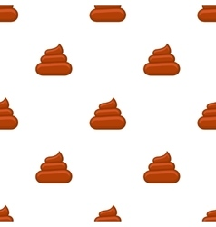 Brown poos white background seamless pattern vector image