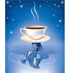coffee on ice vector image vector image