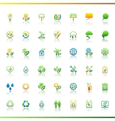 Collection eco web icons vector image