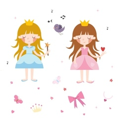 Collection of Pretty Princesses vector image