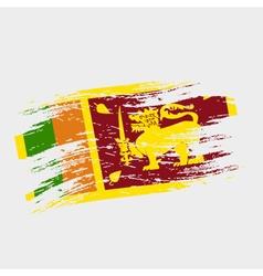 color sri-lanka national flag grunge style eps10 vector image vector image